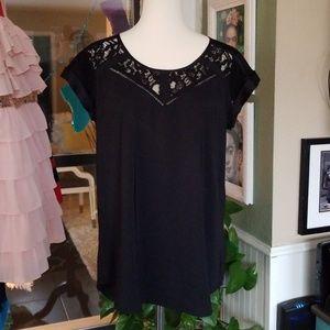 👚Express Black high-low blouse
